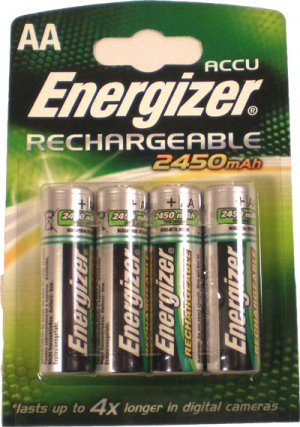 Energizer Rechargeable AA 2400 mAh Batteries. Pack of 4