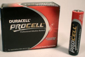 Duracell Procell MN2400 AAA-LR03-HP16 Alkaline Battery.  Pack of 10 batteries.