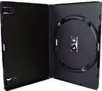 Amaray DVD case SINGLE DEEP BLACK with inlay. Unit of 50 cases (NB Premium product )