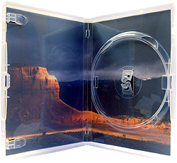 Amaray DVD case. SINGLE CLEAR with inlay (Unit of 50 cases)