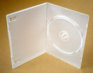 DVD SINGLE disc Clear  library case - slimline 7mm spine (Box of 50)  Klix Brand