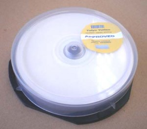 Taiyo Yuden by JVC DUAL LAYER DVD-R DL White Printable F/F 8X Spool of 10