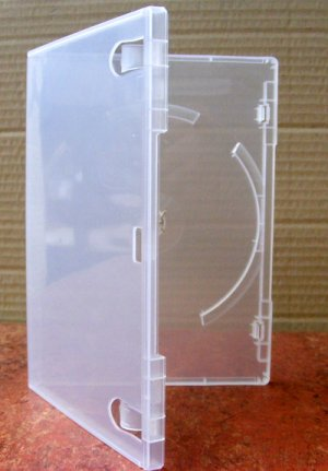 FORTIS DVD case SINGLE SUPERCLEAR 10% heavier than Amaray (50)