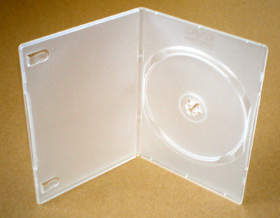 Dvd Single Clear Library Case Slimline 7mm Spine Box Of