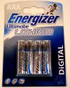 Energizer  MN2400 AAA-LR03-HP16 Lithium Battery 4 PK
