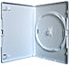 Amaray DVD case SINGLE WHITE with inlay (Unit of 50 cases)
