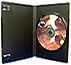 Duraty DVD case SINGLE disc EREBUS BLACK with ''M'' lock. SB400. (Unit 50 )