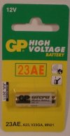 GP High Voltage 23AE Alkaline Battery 12V for lighters & remote controls etc