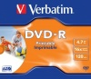 Verbatim DVD-R47 4.7GB WHITE INKJET 16x in Jewel Case SINGLE  code 43521