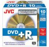 JVC 10 pack DVD+R Non Print Premium Quality Gold surface 16x in jewel cases
