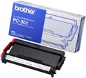Brother Black Thermal Ribbon Cartridge : PC301