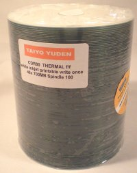 Taiyo Yuden by JVC CDR Thermal Full Face (Everest) Printable 100 White 48X